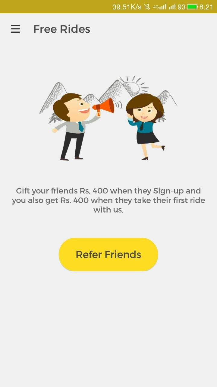 Free 400Rs credits for One way Cab Promo Code, Coupon, Deals