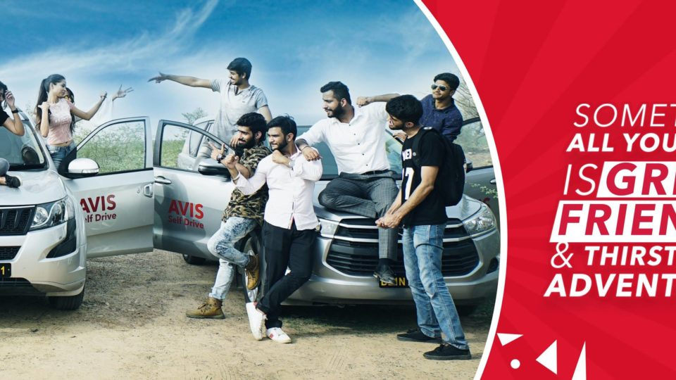 Avis Referral code get 700Rs of for your ride in India - A group of people standing on top of a car - Car