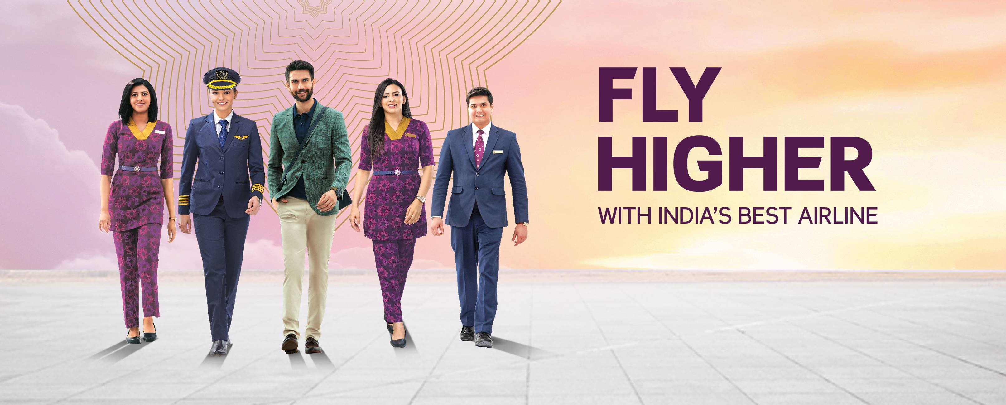 Vistara referral ID Earn 200 CV Points for a free upgrade - A person standing in front of a group of people posing for the camera - Vistara