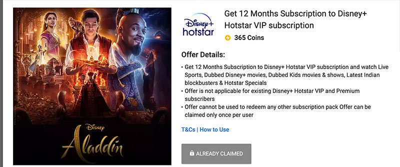FREE Subscription to Disney+ Hotstar VIP and Premium