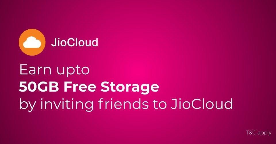 JIO Cloud Referral Code XV6H6C